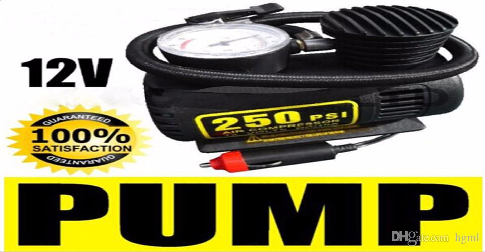 Portable 12V 250PSI Electric Pump Air Compressor Tire Inflator for Motorcycles / Electromobile / Canoeing CEC_010
