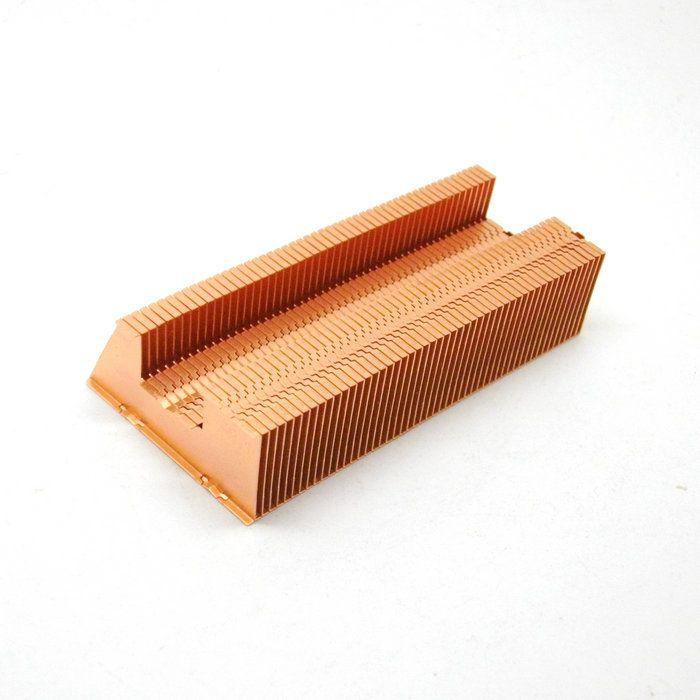2017 mm copper fin heat sink for flat heat pipe for Copper pipe heater