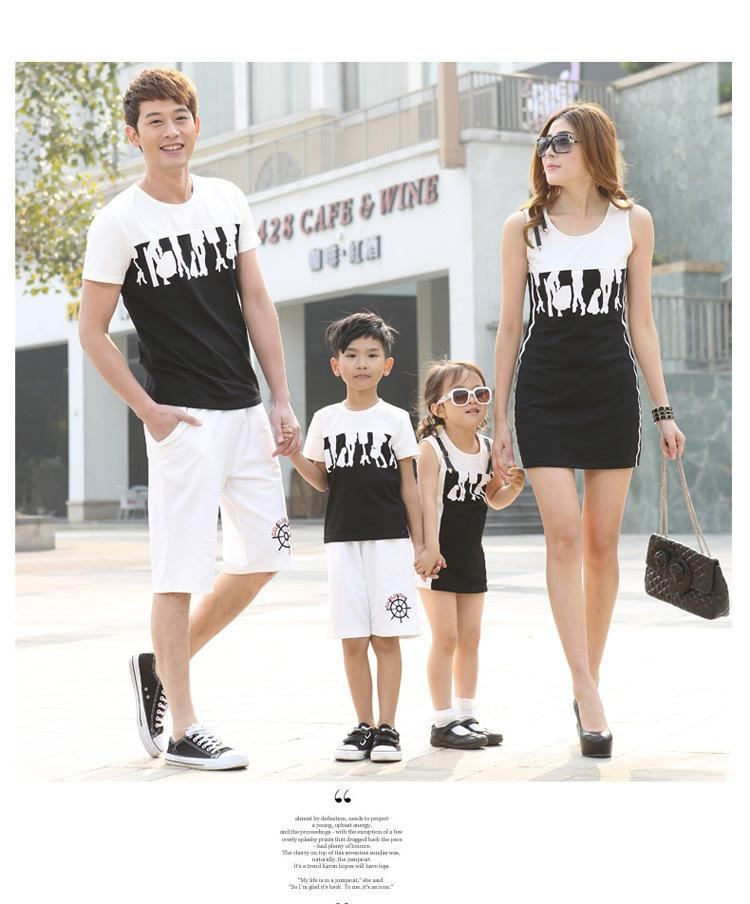 figures family matching clothes family set clothes for mother and