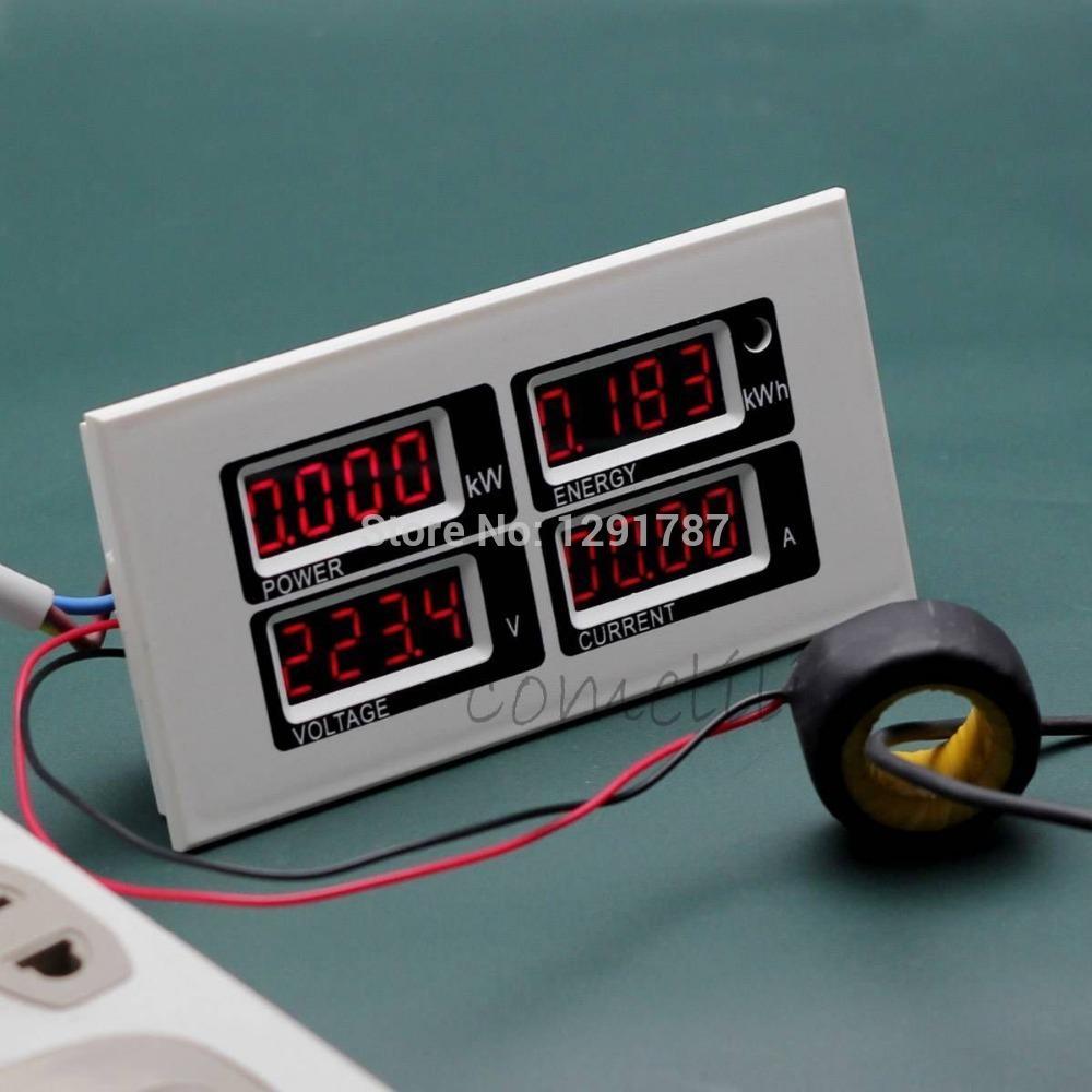 Digital Power Meter : A ac v digital led power meter monitor voltage