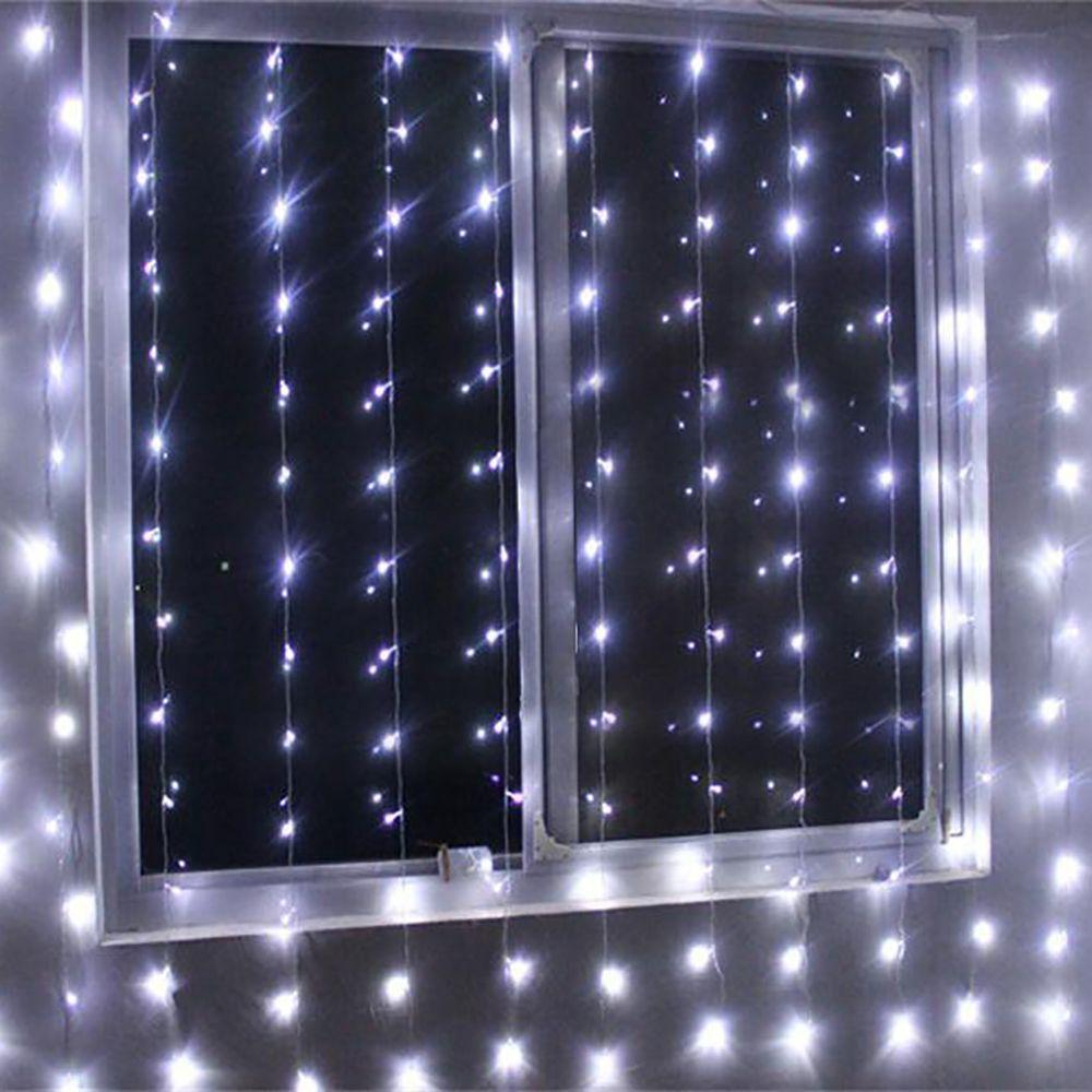 300 Led Window Curtain Icicle Lights String Fairy Light