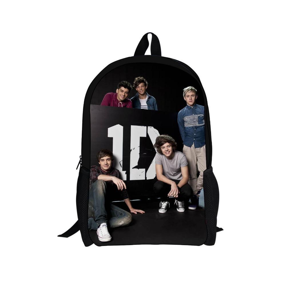 School bag new design - 2014 New Design One Direction Kids Backpack For Boys And Girls Cool 1d One Direction Student School Bags Children Gifts Mochila Bookbags Backpack Purse From