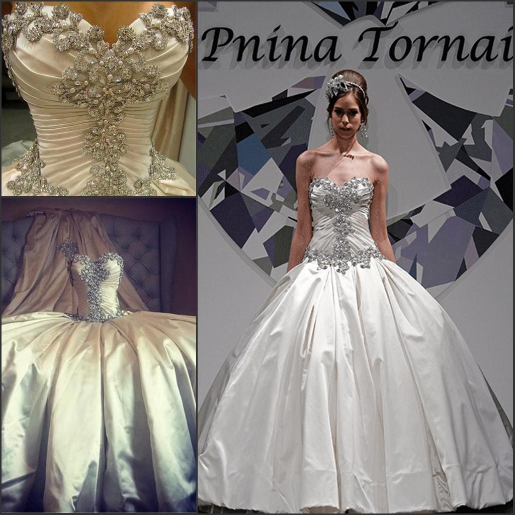 2016 New Pnina Tornai Plus Size Wedding Dress Lace Up