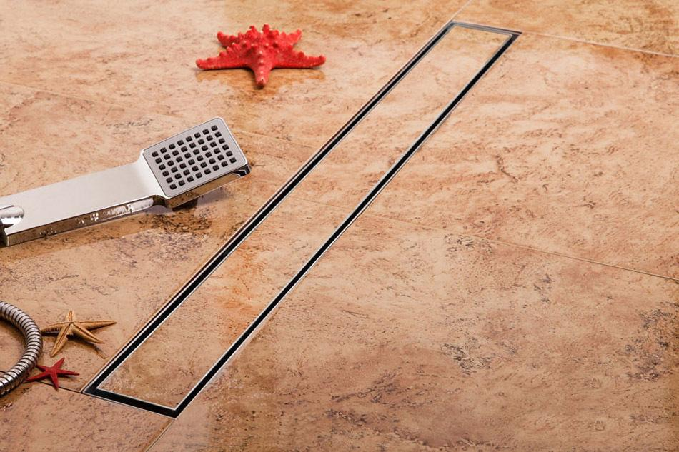 how to clean tile shower drain