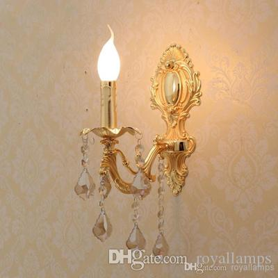 Bedroom Antique Wall Lamps Italian Vintage Sconce Crystal Light Europe Fluorescent Gold Lights For Hall