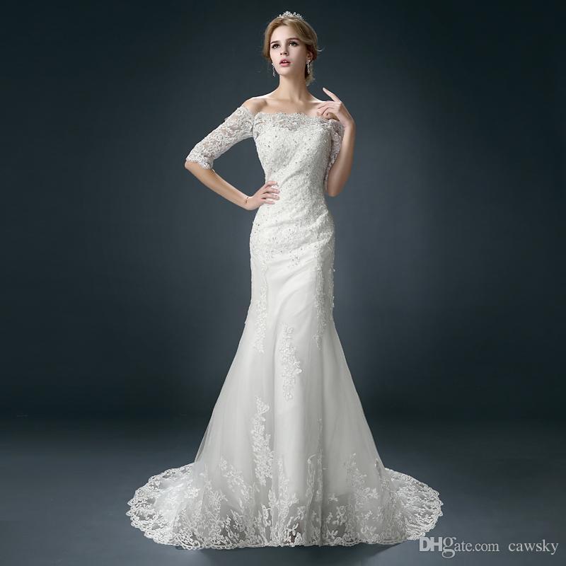 2015 New Arrival Mermaid Wedding Dresses Off Shoulder