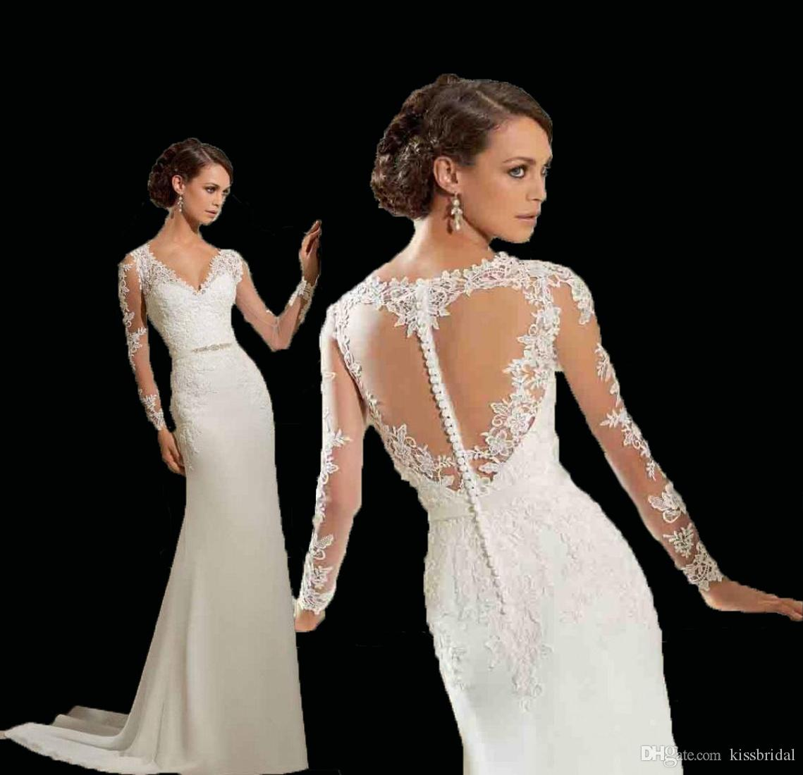 New 2015 venice lace appliques wedding dresses with heart for Heart shaped mermaid wedding dresses