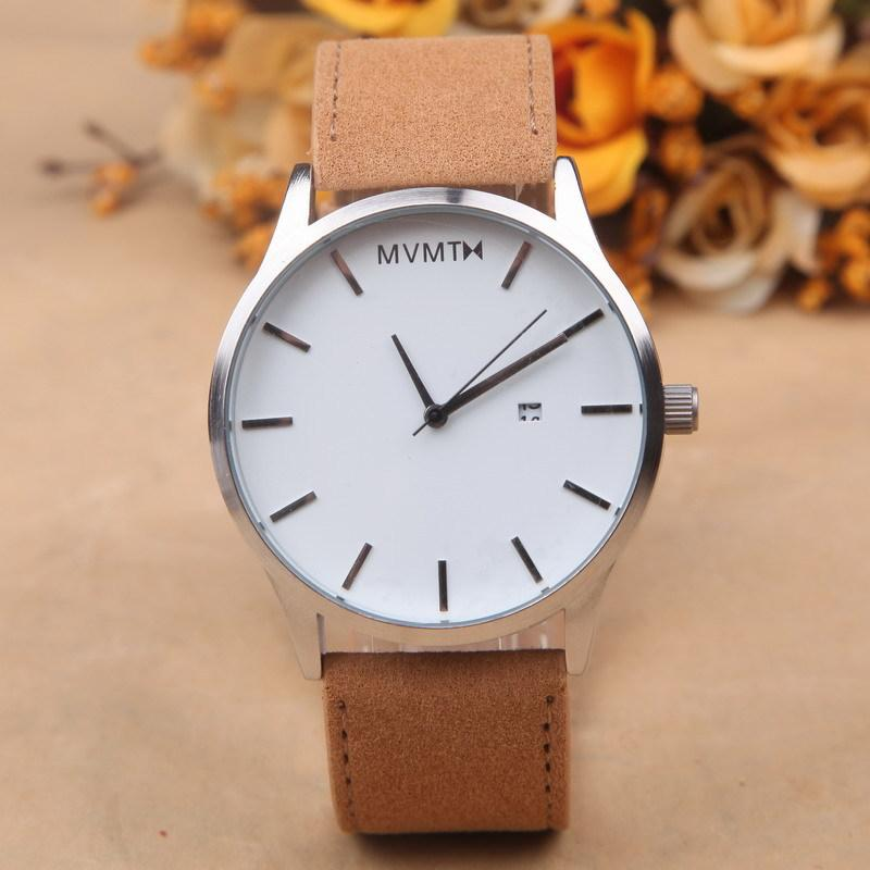 2016 hot brand mvmt chrono watches men high quality genuine 2016 hot brand mvmt chrono watches men high quality genuine leather quartz analog clock male sport