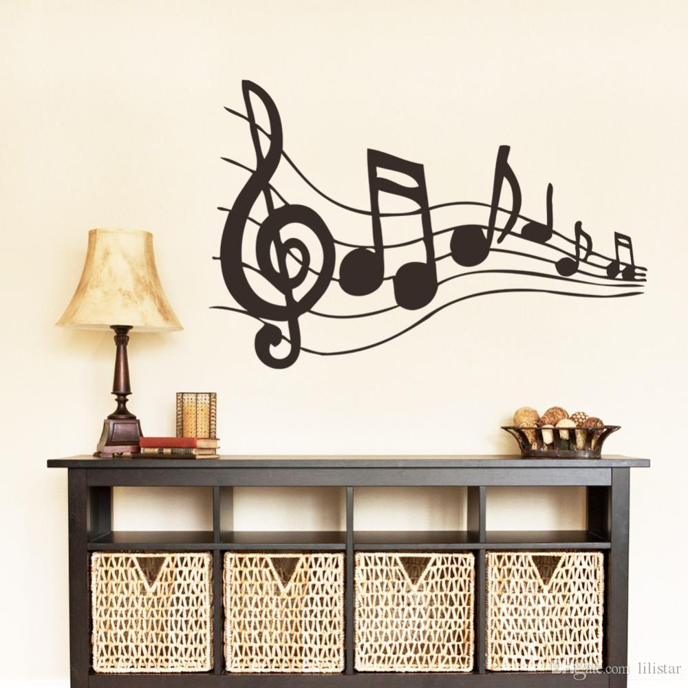 new design creative music musical notes notation vinyl wall decal stickers removable pvc diy home decoration