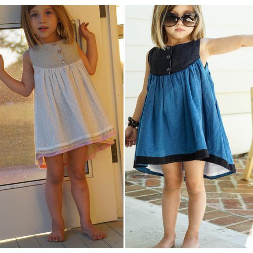 2017 Ups 2015 Summer Girl Dress Kids Clothes Casual Cotton Girls ...