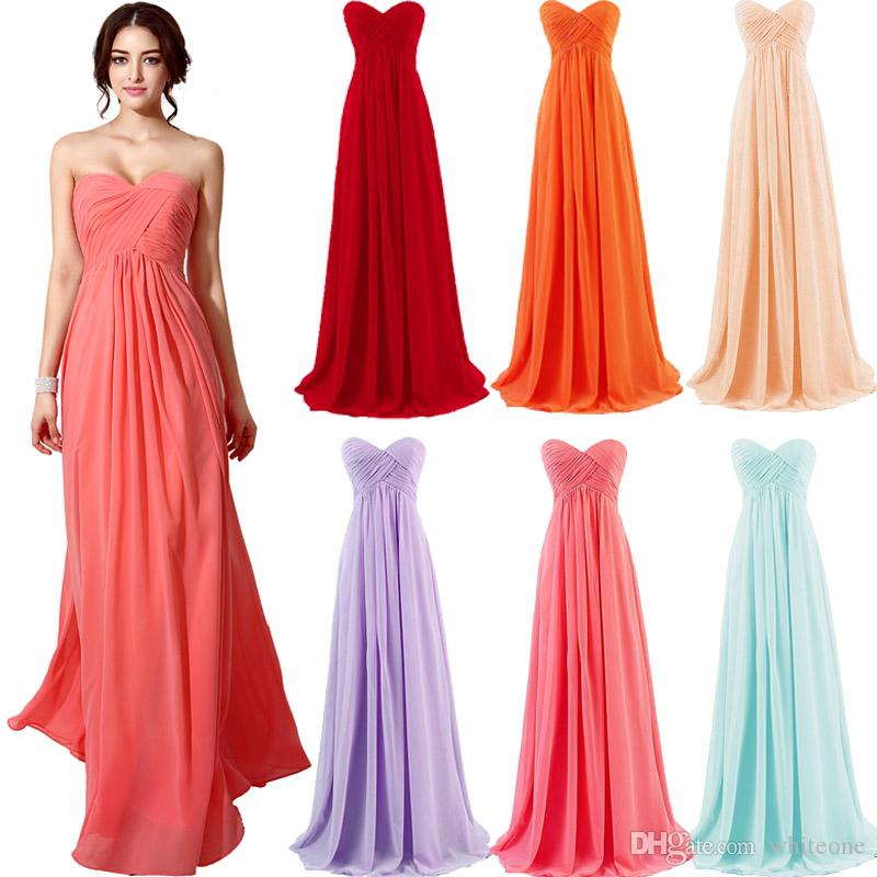 Cheap 2015 Coral Blue Lavender Mint Blush Red Bridesmaid Dresses ...