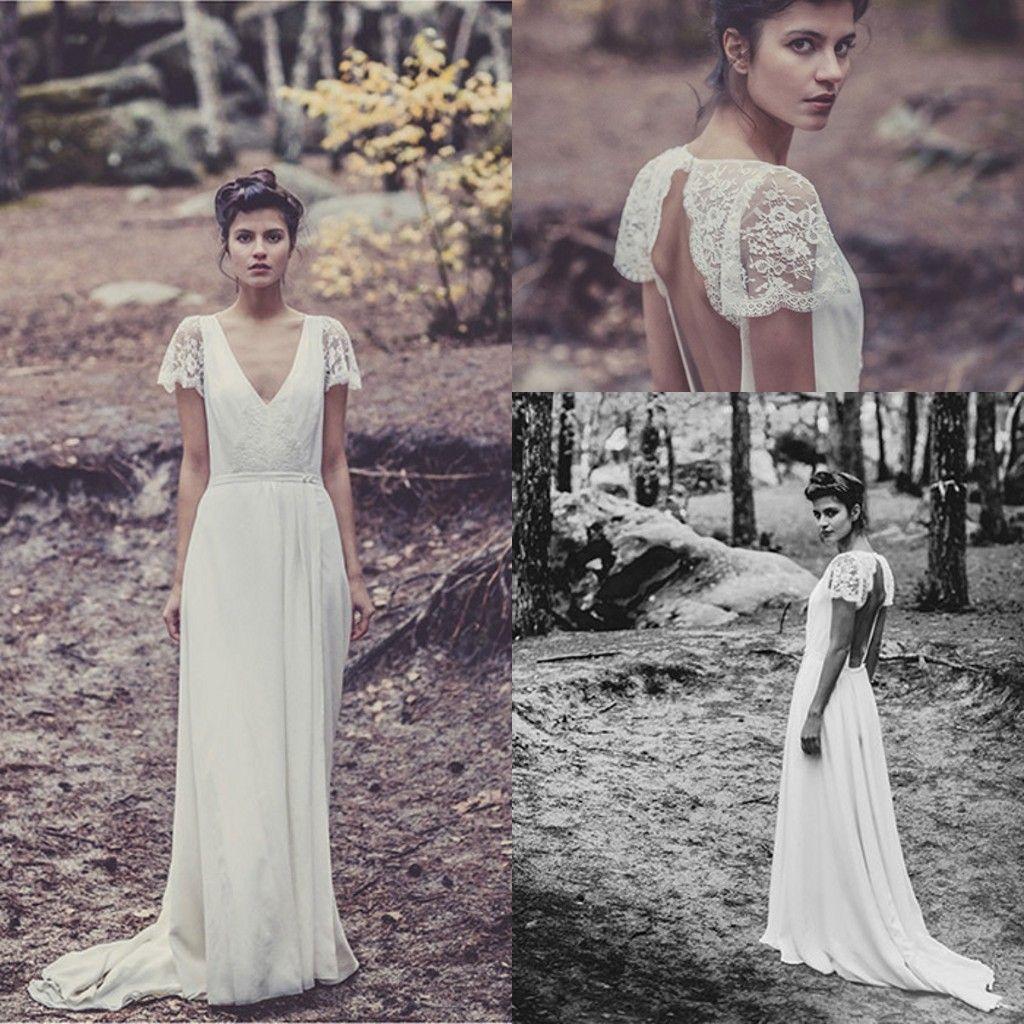 Discount Laure De Sagazan Wedding Dress y Backless V