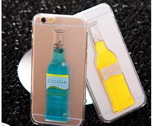 Liquid 3d moving cocktail beer bottle clear transparent for Case 3d online