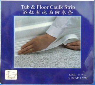 Tub and floor caulk strip tape