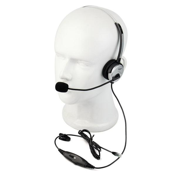 Call Center Monaural Office Phone Headset+ Coiled Cable RJ9 Plug For Avaya Mitel Nortel ROLM C2158D