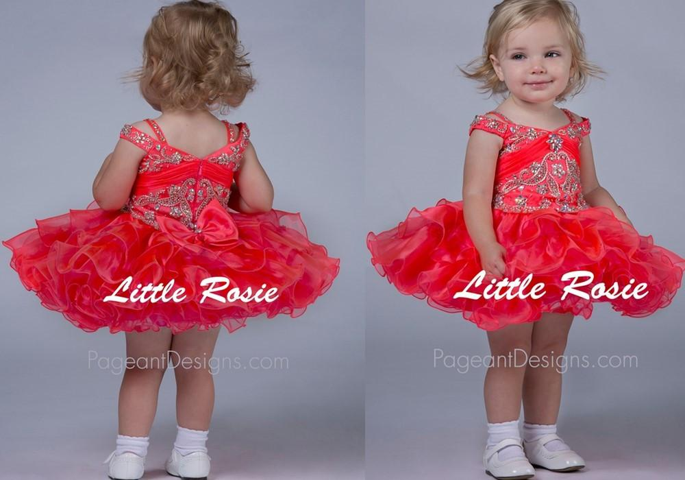 New Red Short Little Rosie Baby Beauty Infant Cupcake Pageant ...