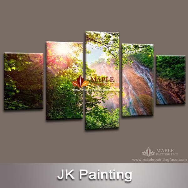 Dropship Waterfall Canvas Art Print Artwork Modern Painting Home ...