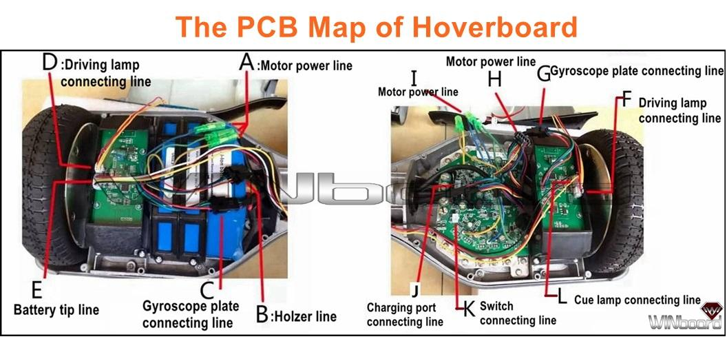 b circuit board for all hoverboard motherboard parts
