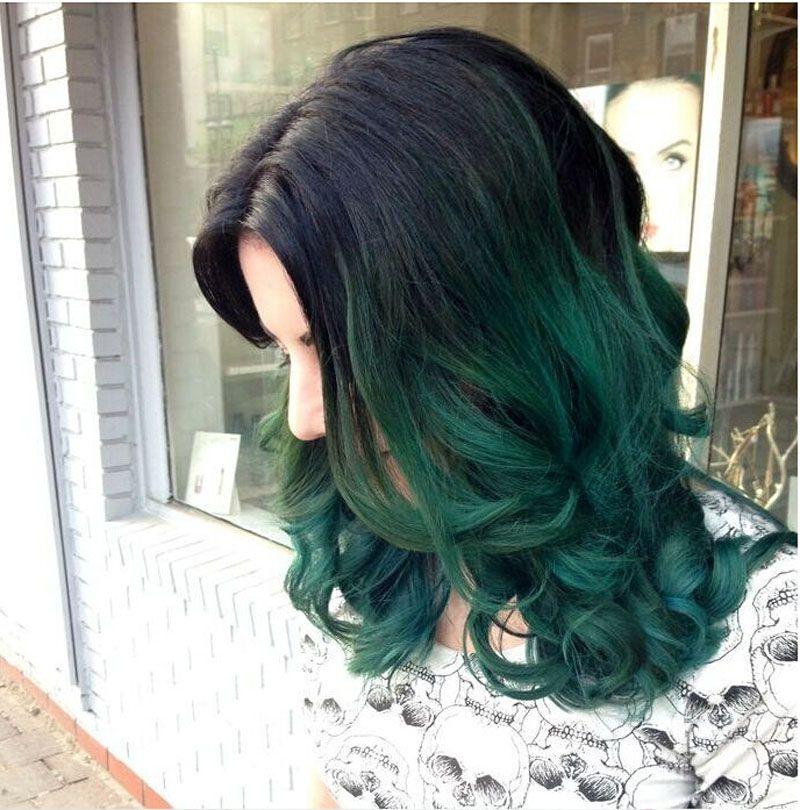 Dark Green Wigs 94
