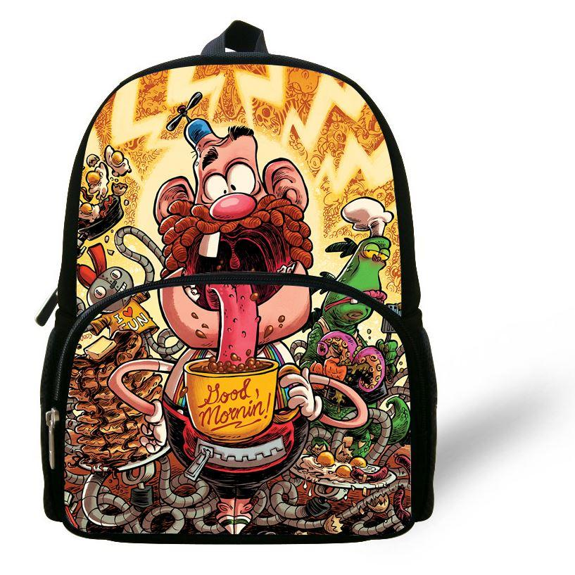 12-Inch Popular Kids Cartoon Backpacks For Preschool Uncle Grandpa ...