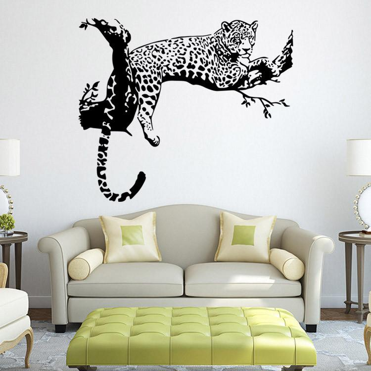 Tiger Pattern Creative Personality Wall Stickers Living Room Bedroom Decoration Art Stickers ...