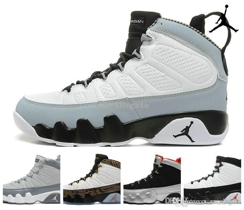 Nike Air Jordan 9 Retro Barons Johnny Kilroy Doernbecher Cool Grey Black Mens Basketball Shoes,