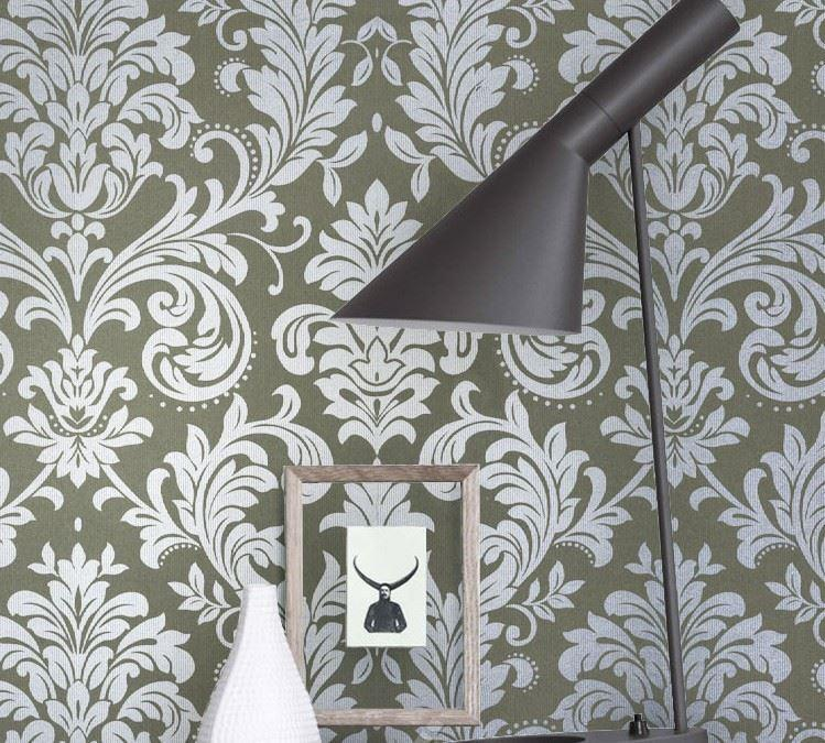 europe style eco friendly silver grey floral damask wallpaper silver damask wall paper non woven vintage gray wallpaper roll desktop wallpaper wide desktop china eco friendly modern office