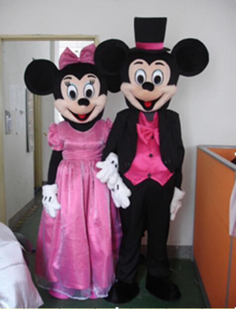 Cartoon Characters Dress Up : Custom made dress up cute mickey minne mouse couple