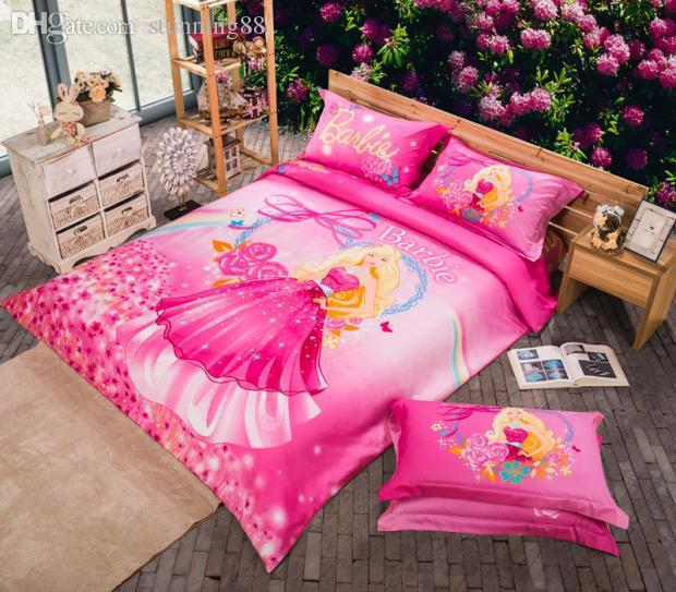 Wholesale Barbie Queen Full Twin Size Bedding Set For Girls Bed ...