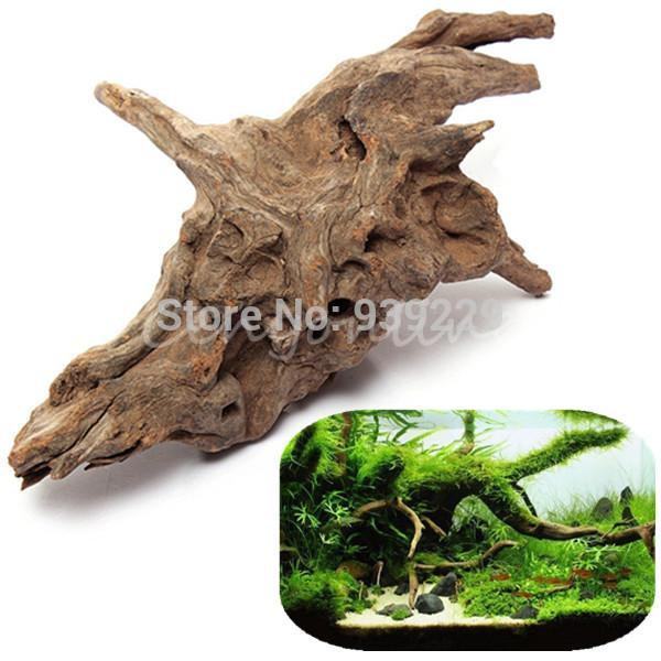 Discount driftwood root log stump cuckoo root aquarium for Aquarium log decoration