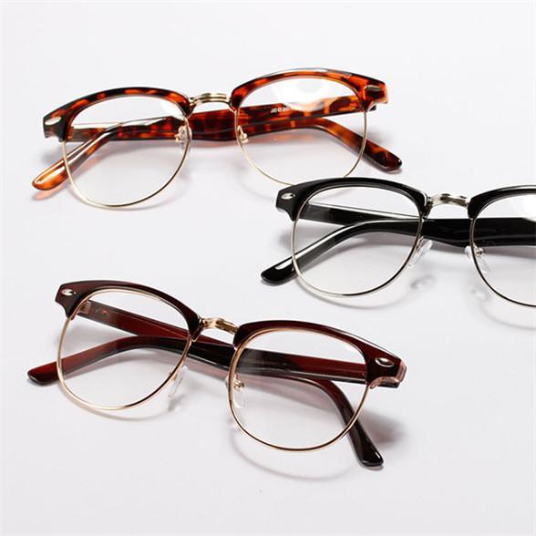 Vintage Unisex Mens Womens Half Frame Glasses Metal Frame ...