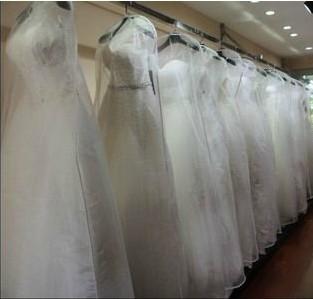 2015 new a line wedding dress bags high quality white dust for Wedding dress travel bag
