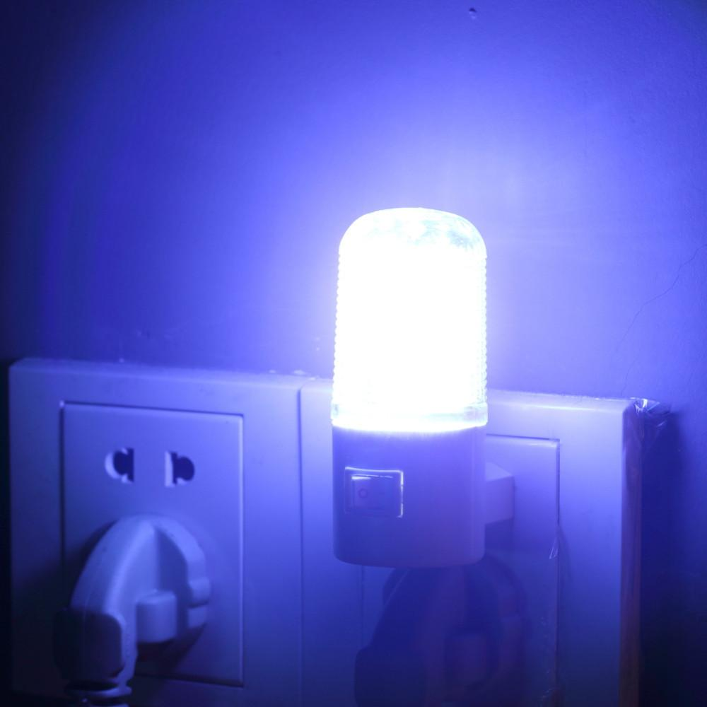 4 LED Mur de montage Chambre Night Lamp Light US Plug Eclairage ampoule AC 1W