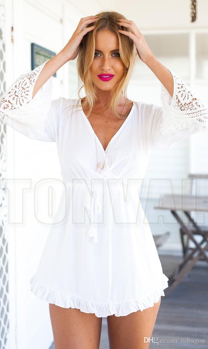 White Beach Dresses For Women - 66PNPGS6