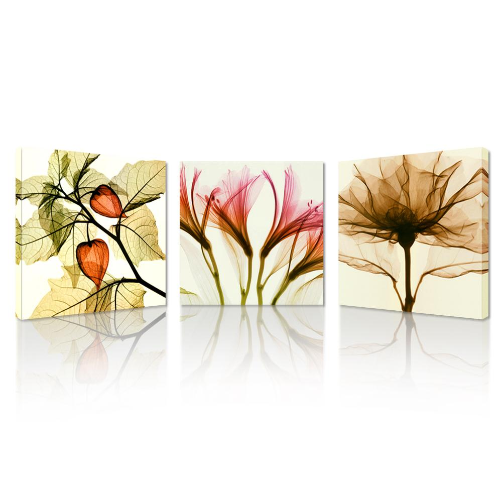 flickering flowers modern canvas wall art  modern wall art home  - pcs flickering flowers modern canvas wall art  modern wall art homedecorative canvas print set of  without frame