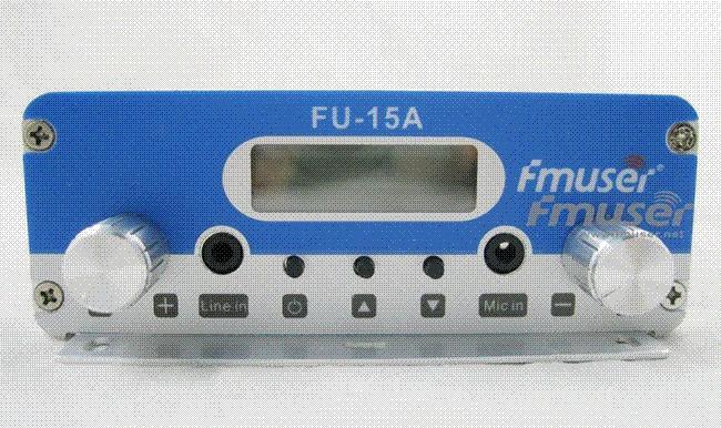 New! Fmuser Fu 15a 15w Stereo Pll Fm Transmitter Broadcaster Gp Antenna Power Kit Radio ...