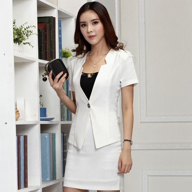 Fashion Summer Style Business Office Uniforms Women Elegant Skirt ...
