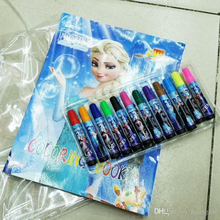Frozen Colouring Book Stationery Kit Sticker Coloring Book