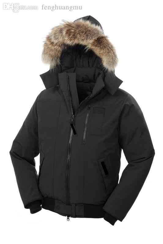 2017 Fall Hot Sale Goose Winter Down Jackets With Fur Hood Men&39S