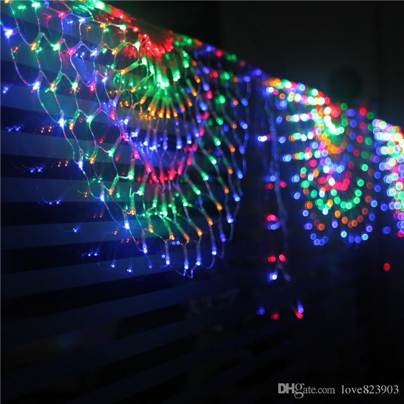 Creative peacock net light living room bedroom curtain for Room decor led lights