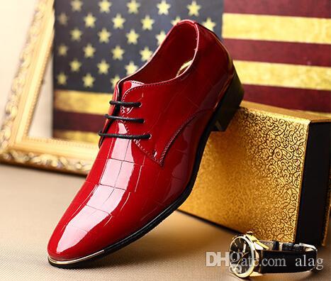 2016 Latest Fashion Pointed Men's Shoes Wedding Shoes Korean ...