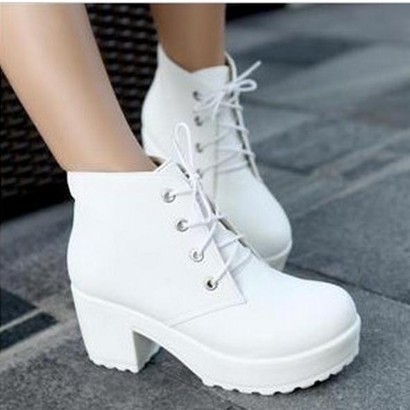Discount Platform Short Chunky Heels | 2017 Platform Short Chunky ...