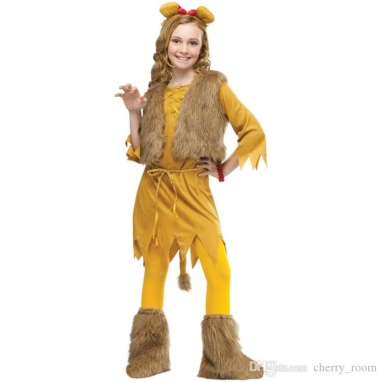 2015 childrens halloween costumes new wolf girls cosplay animal costumes kids stage performance costume child outfit clothes cx0143 childrens halloween - Wolf Halloween Costume Kids