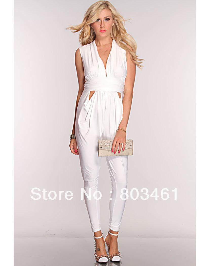 All White Jumpsuits For Women Photo Album - Reikian