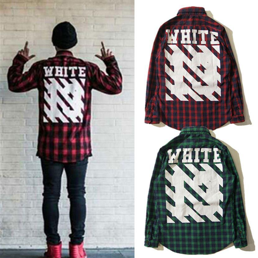 best off white shirts autumn winter 13 plaid off white virgil abloh shirts street plaid men. Black Bedroom Furniture Sets. Home Design Ideas