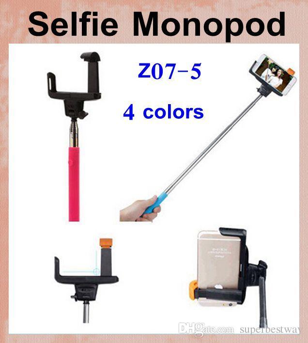 best z07 5 handheld monopod with smartphone holder wireless bluetooth selfie timer stick control. Black Bedroom Furniture Sets. Home Design Ideas