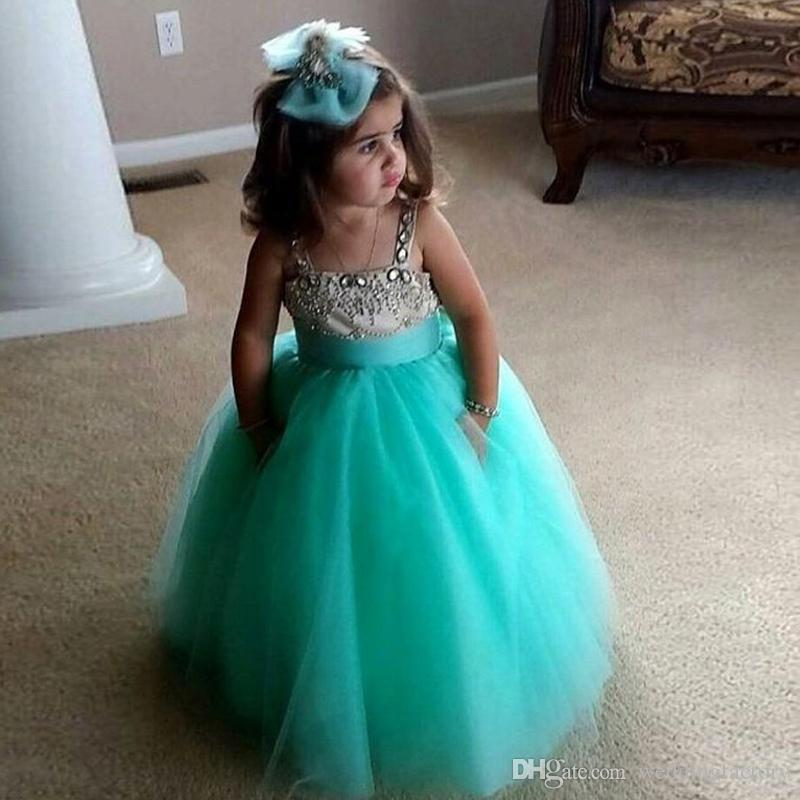 Lovely Princess Dresses for Little Girls Long Formal Flower Girl ...