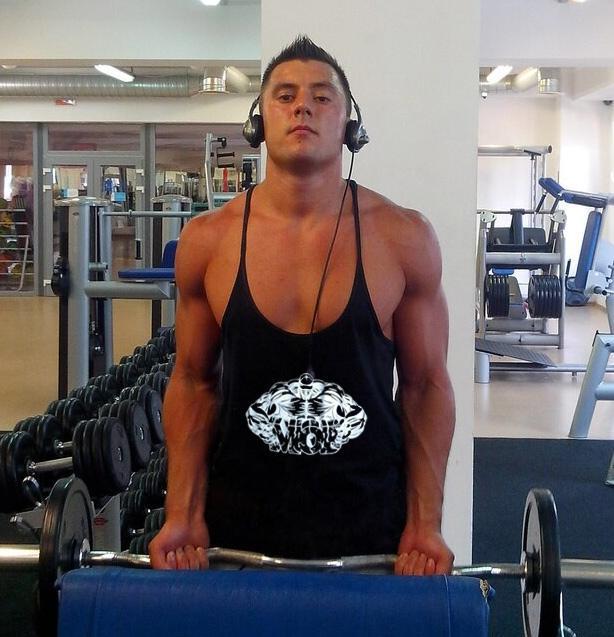 2017 golds gym regatas mens stringer gym tank tops fitness for Cheap workout shirts mens