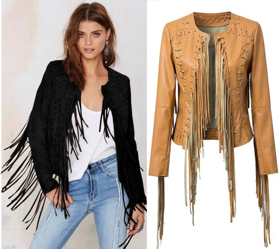 Women Fall Vintage Fringe Tassel Jackets Clothes 2015 New Fashion ...