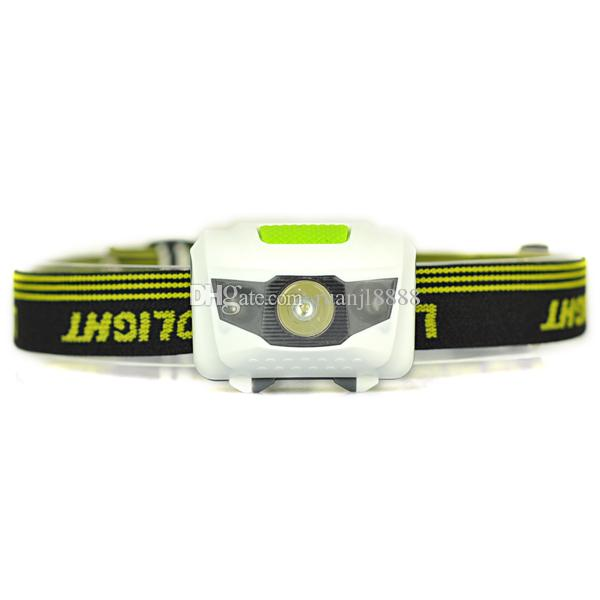 600LM 3 ampoules WhiteRed Mini LED Camping Hunting Fishing Headlamp Headlight Lampe torche par 3xAAA, sans batterie